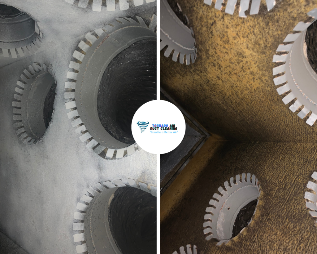 Plenum Box Cleaning Before And After